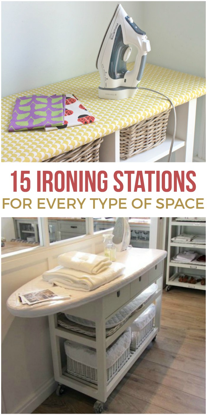 You may never love ironing, but these ironing station ideas will give you a prettier and more practical space to work!