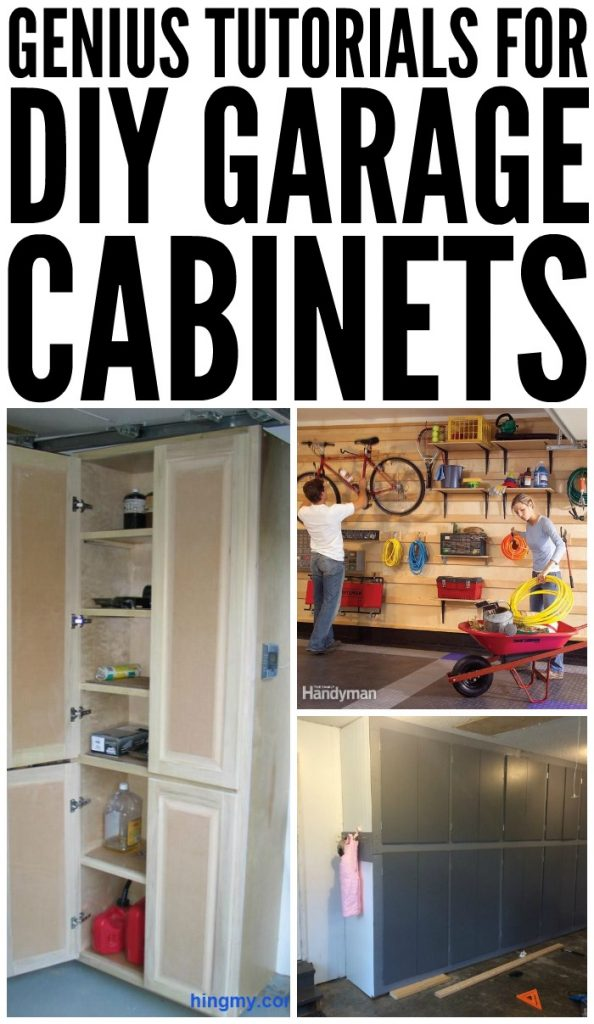 Genius tutorials for diy garage cabinets for Diy garage cost