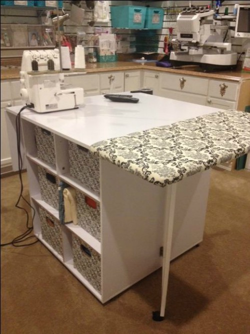 craft table with ironing pad