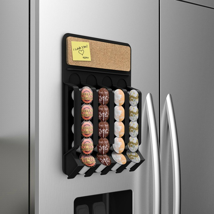 Merveilleux Fridge Mounted Coffee Pod Dispenser