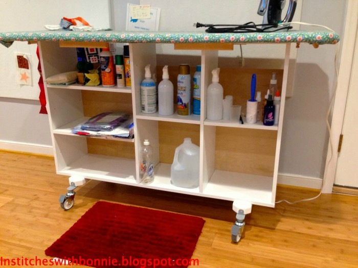 ironing station on wheels
