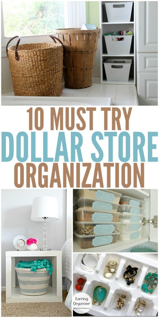 Dollar Store Organization Ideas To Inexpensively Organize Your Home