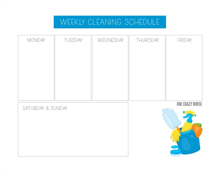 Be the boss of you weekly cleaning schedule! #CleaningIdeas