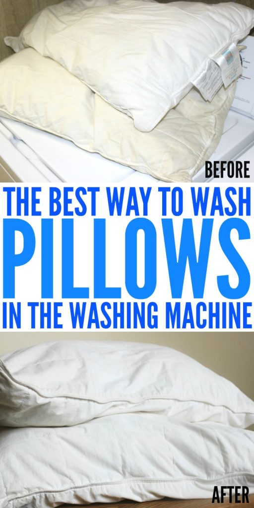 wash pillows in machine