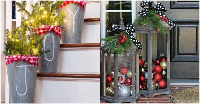 23 front porch christmas projects to wow your neighbors - How To Decorate Front Porch For Christmas