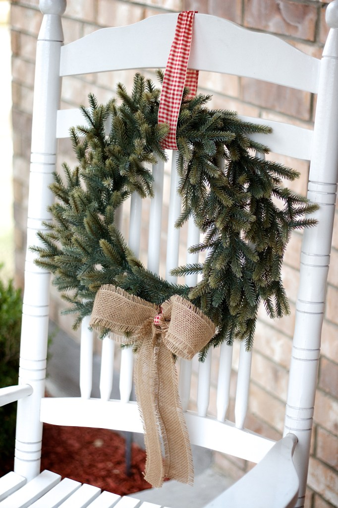 rocking chair wreath