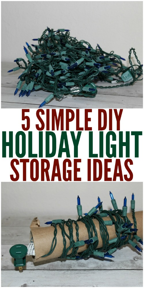 5 simple diy holiday light storage ideas christmas lights storage holidaydiy diyhome