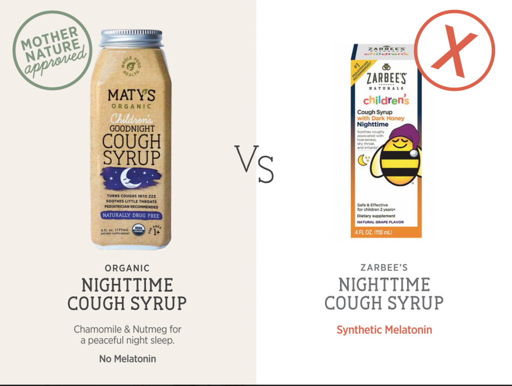 Maty's Nighttime Cough Syrup comparison