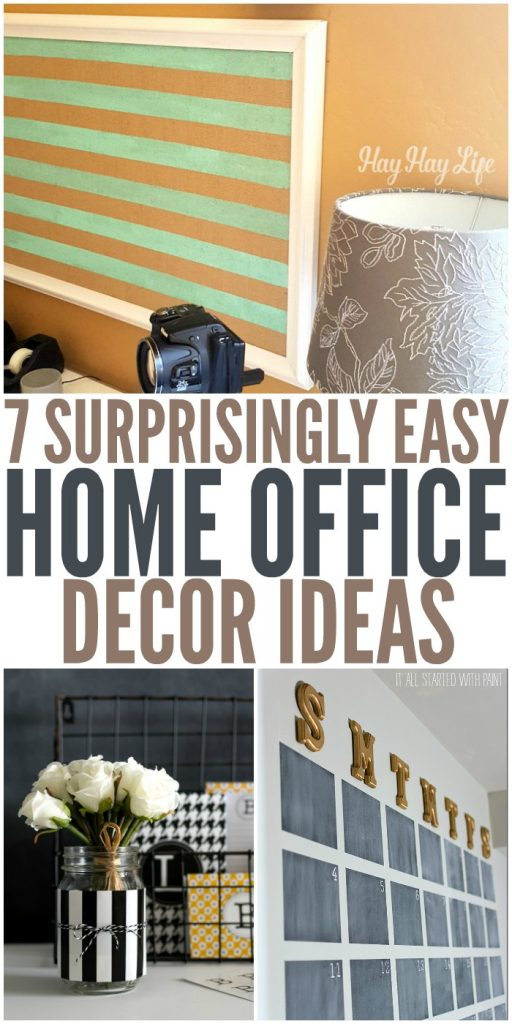 7 Surprisingly Easy Home Office Decor Ideas #DIYHome #DIYHomeOffice #HomeOfficeDecor