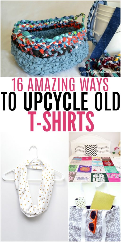Amazing Ways to Upcycle Old T-Shirts #UpcycleIdeas #DIYFun #UpcycleTShirts