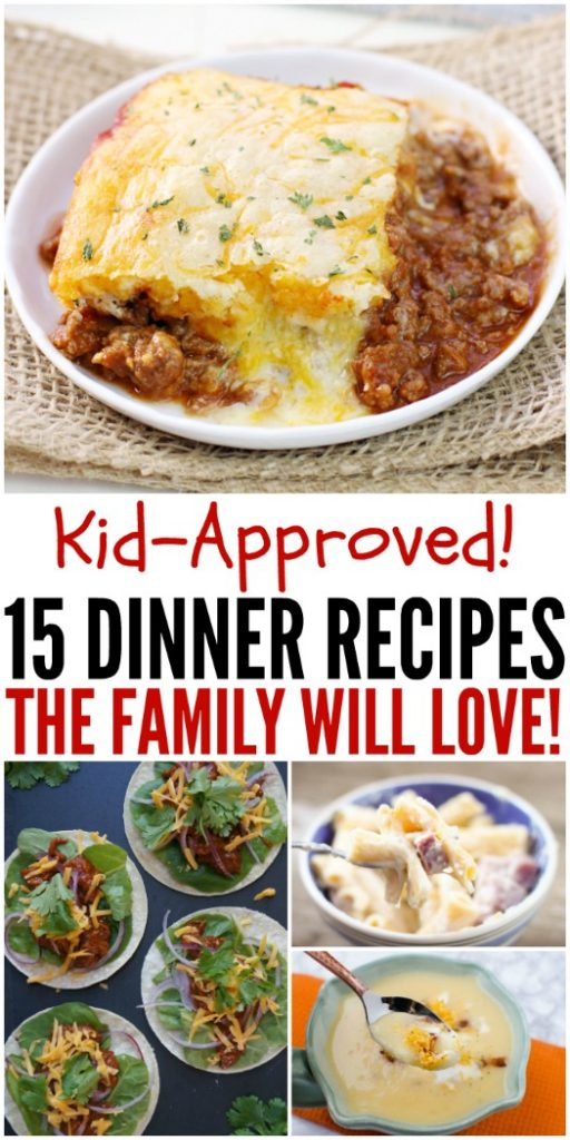 Kid Approved Family-Friendly Dinner Recipes #KidApprovedDinners #DinnerRecipes #KidFriendlyDinners