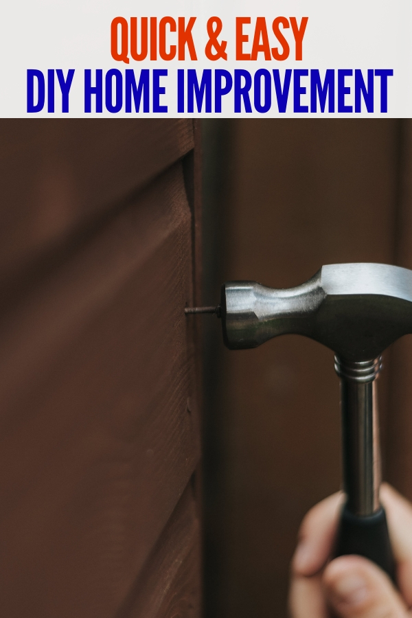 Are you a fan of doing DIY home improvement projects, or maybe want to get started? These simple ideas and tips are easy to do! #DIYhomeimprovement #onecrazyhouse #DIY #homeremodel