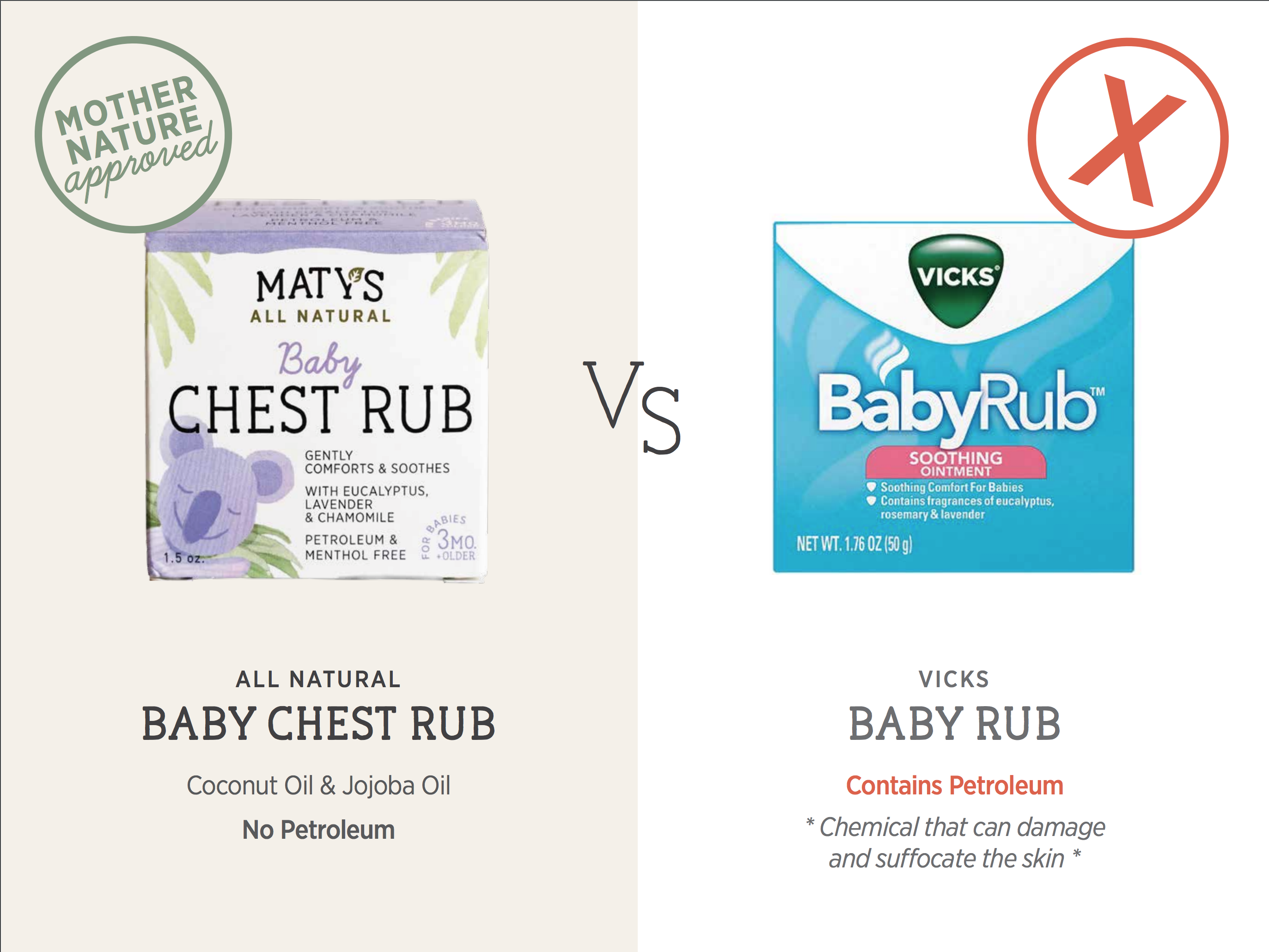All Natural replacement for Vicks BabyRub
