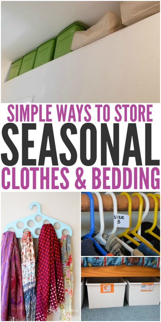 Simple Ways to Store Seasonal Clothes and Bedding