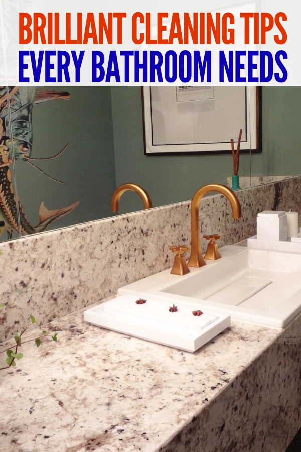 Looking for brilliant bathroom organizing ideas? Look no further than these simple decluttering tips! You'll love the ease of application! #declutter #bathroomorganizationideas #onecrazyhouse #cleaning