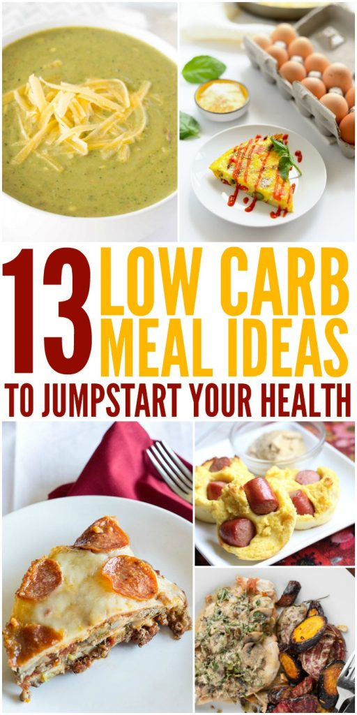 Low Carb Meal Ideas You'll Love! #LowCarb #MealIdeas