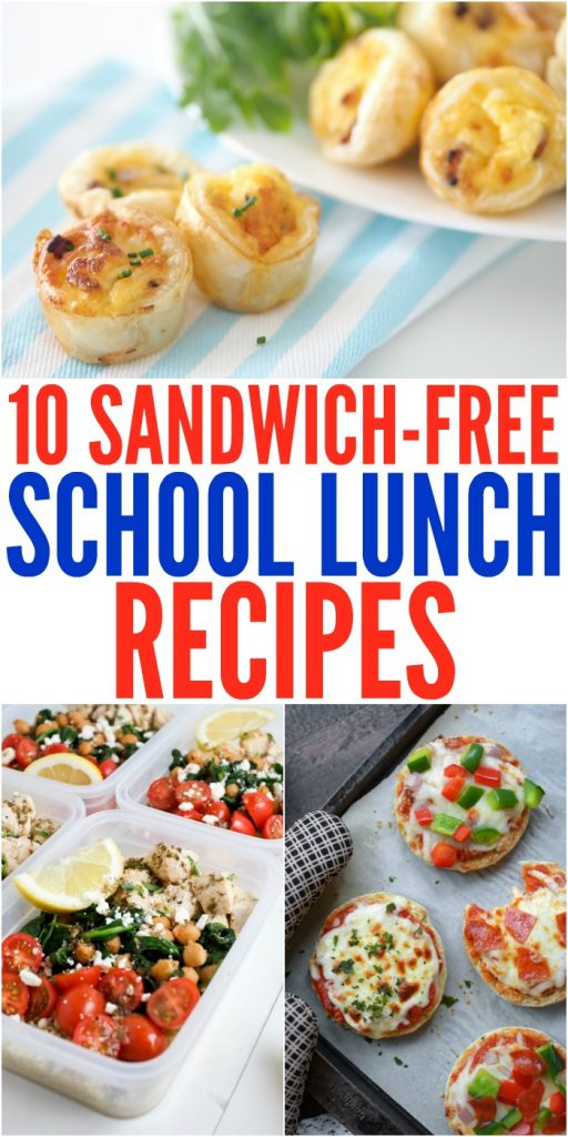 10 Kid-Approved Sandwich-Free School Lunch Recipes