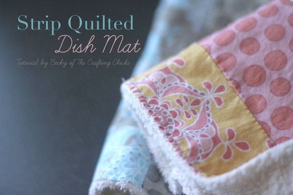 strip quilted dish mat image