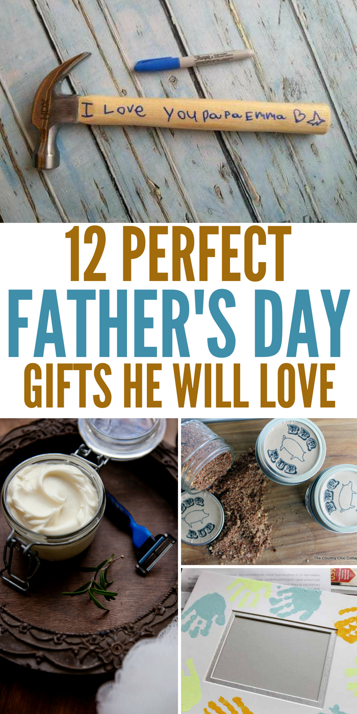 Here are a handful of DIY and handcrafted Father's Day gifts Dad will love. Find the perfect gift for the Dad in your life. #fathersdaygifts #dad #happyfathersday #onecrazyhouse