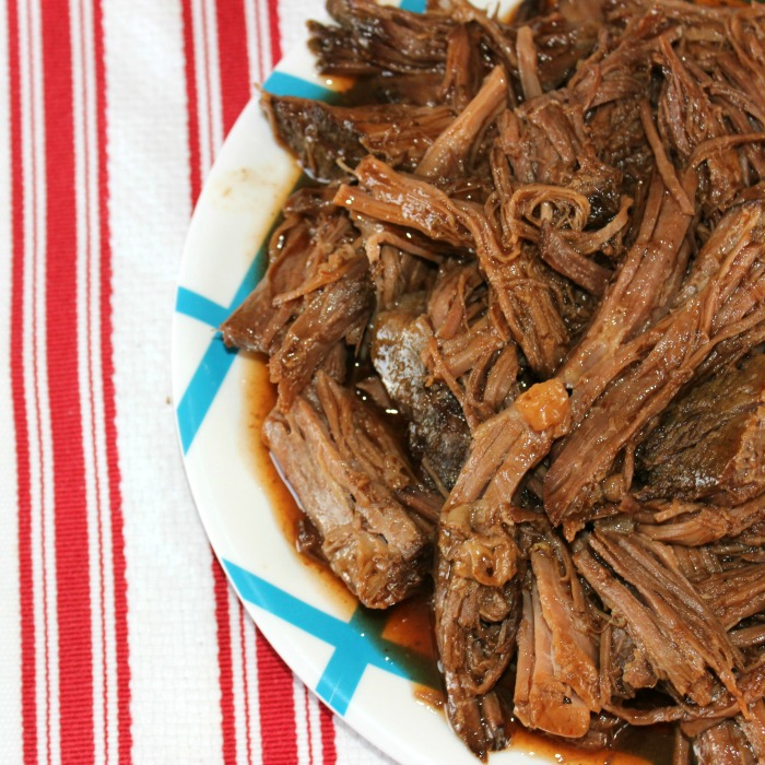 Crock Pot Shredded BBQ Beef
