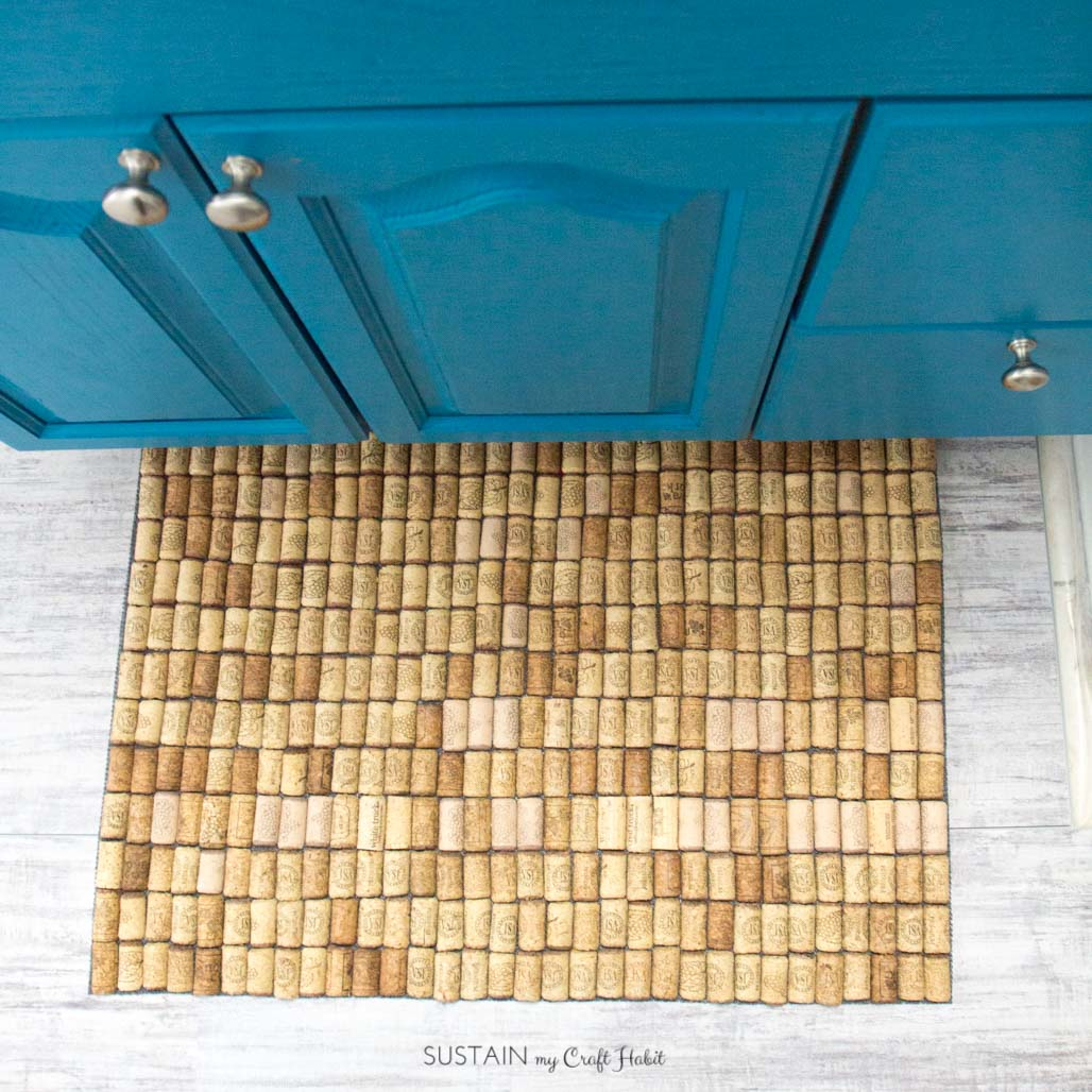 Wine Cork Crafts -Wine Cork Bath Mat- Sustain my Craft Habit