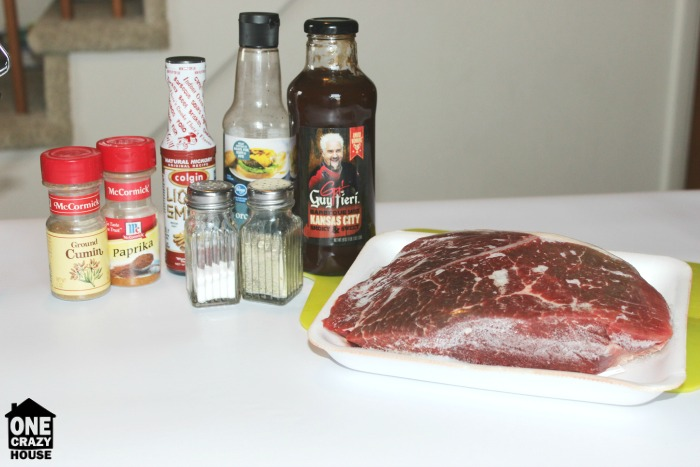Ingredients for Slow Cooker BBQ Beef