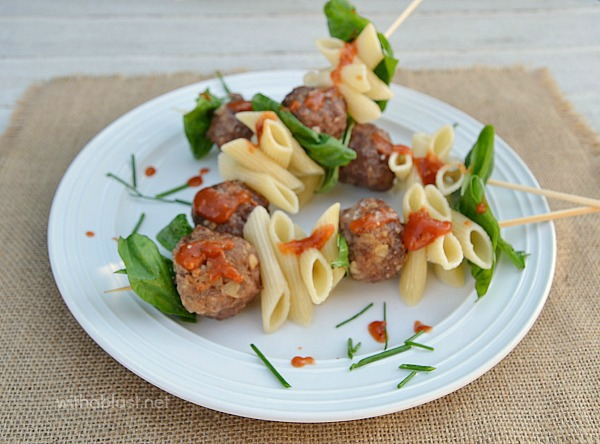 IItalian Appetizers - talian Meatball and Pasta Sticks- With A Blast