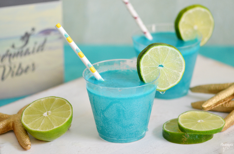 Summer Mocktails-Tropical Mermaid Punch- Finding Zest