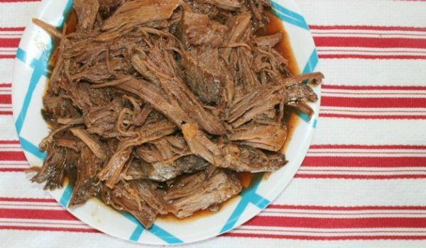 Slow Cooker BBQ Beef Featured