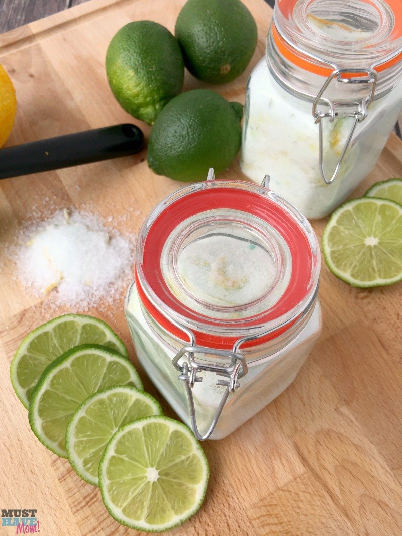 Back To School Teacher Gifts - citrus mint Epsom salt soak- A Mom Must Have