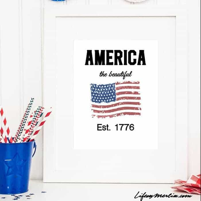 4th of July Craft - Patriotic Printable Kenarry