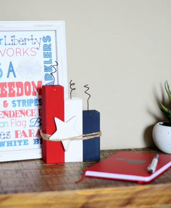 DIY 4th of July Crafts - Fireworks Block- Making of A mom