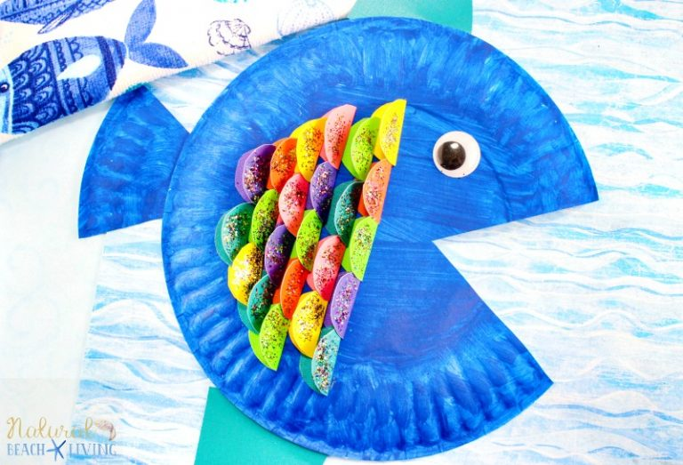 Rainbow Craft for Kids - Rainbow Paper Plate Fish- Natural Beach Living