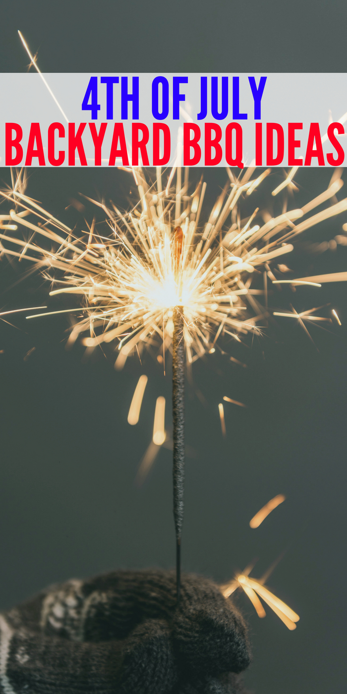 Sparkler being held at 4th of July party