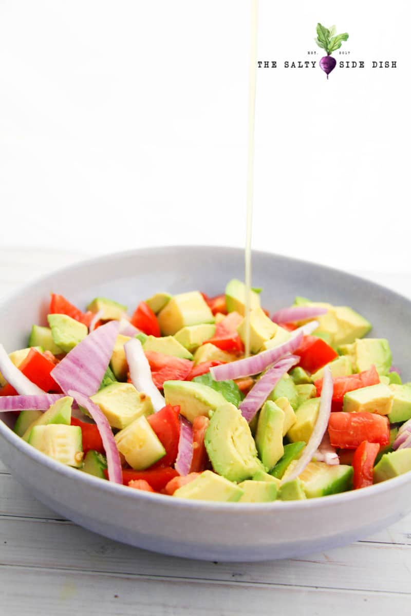 Avocado Recipes- Avocado Salad with Tomatoes and Cucumbers-Salty Side Dish