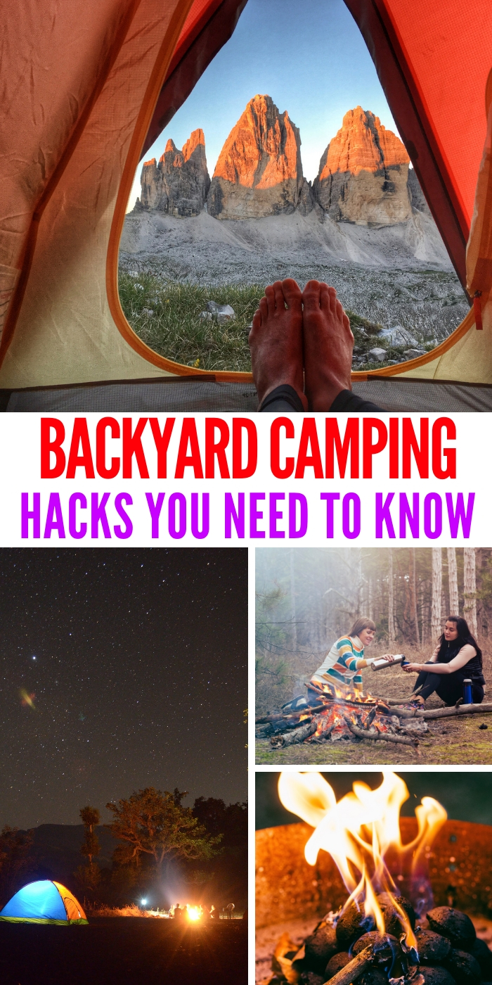 backyard camping hacks and tips