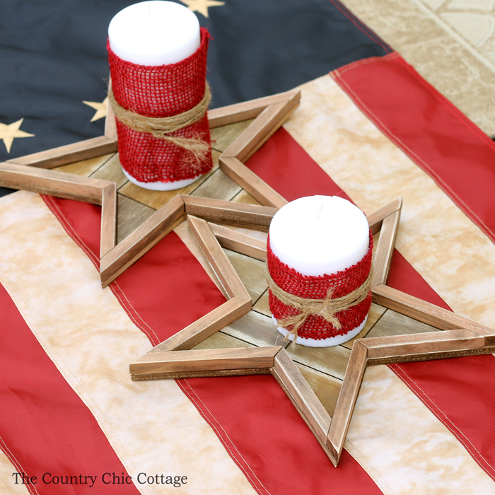 4th of July Crafts - 4th of July Centerpiece- The Country Chic Cottage