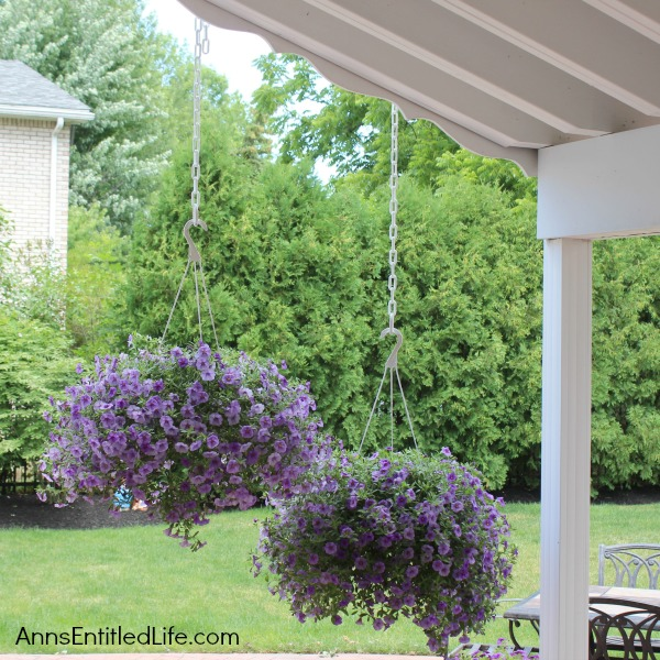 Backyard Ideas -Hanging Baskets-Ann's Entitled Life