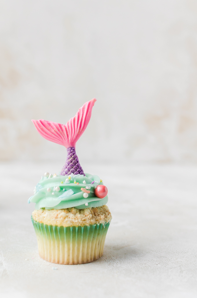 Summer Inspired Cupcakes - Mermaid Cupcakes- A Cookie Named Desire