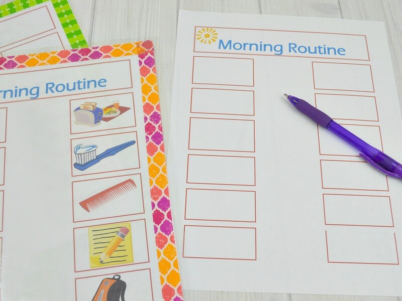 Back to School Organization- Morning Routine Printable- Organized 31