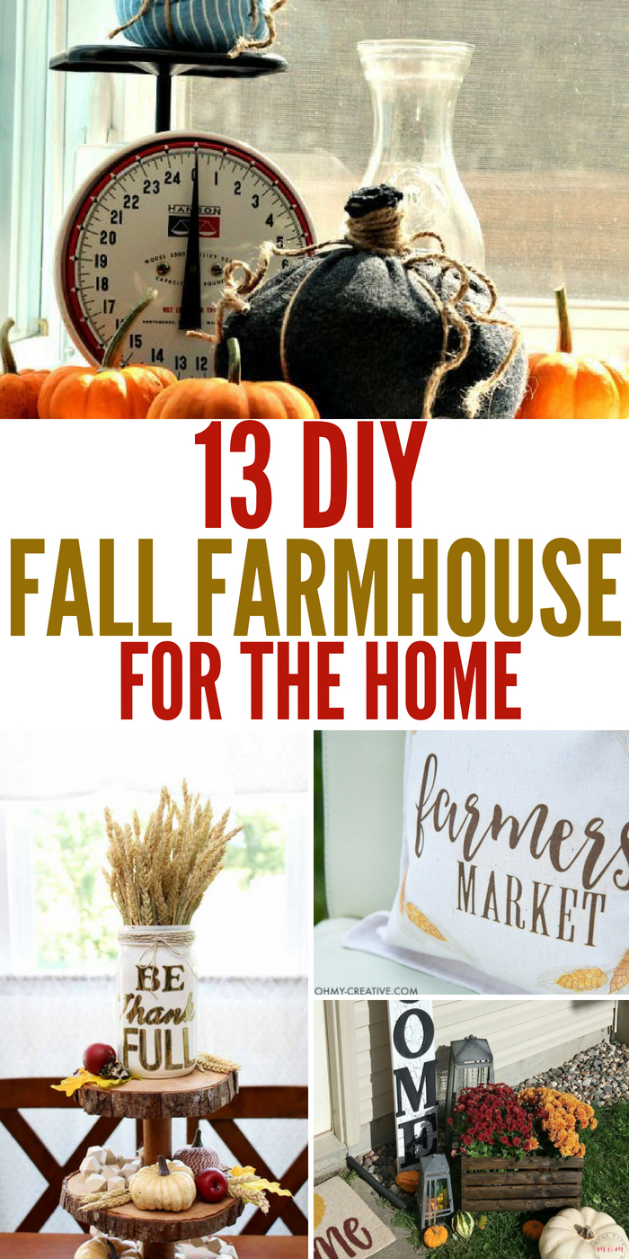 13 Fall Farmhouse Decor DIY's To Make Yourself For Less