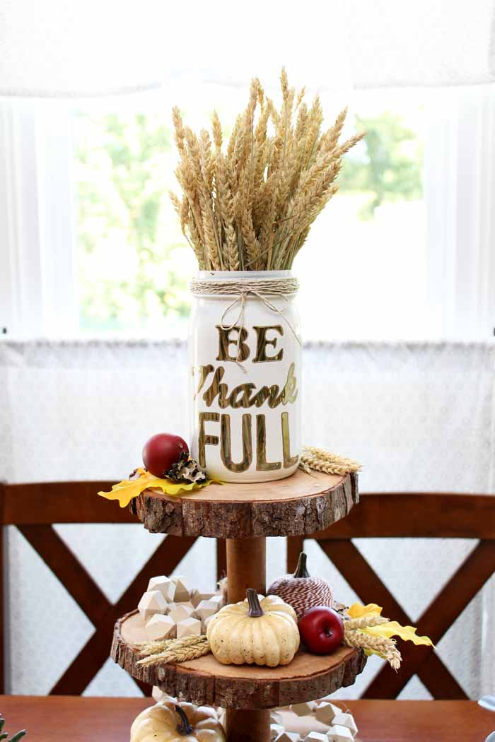 Farmhouse Fall Decor - Three Tier Stand - The Country Chic Cottage