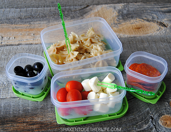 No Sandwich Lunches - Pasta Salad-Shaken Together Life