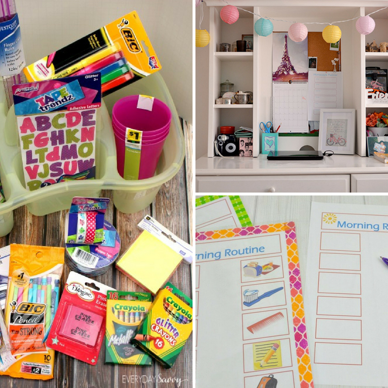 Back to School Organization To Make Heading Back To School A Breeze