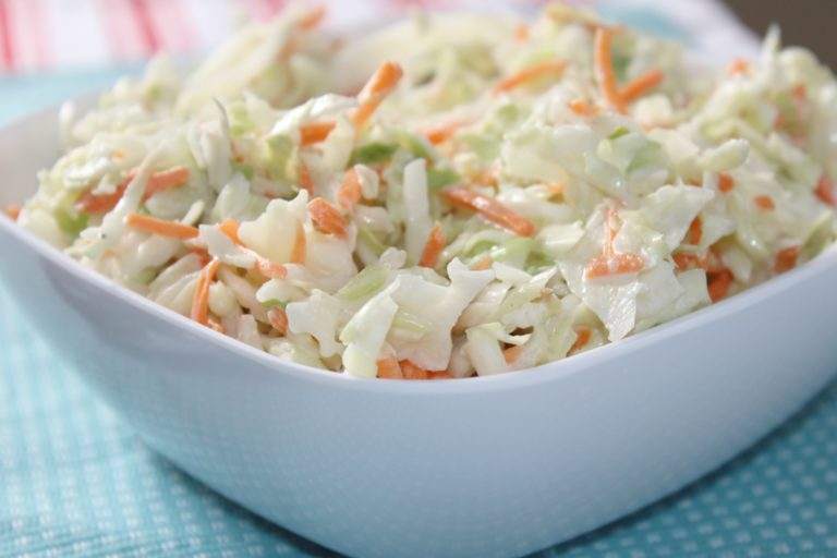 Potluck Dishes - Easy Coleslaw - Bake Me Some Sugar