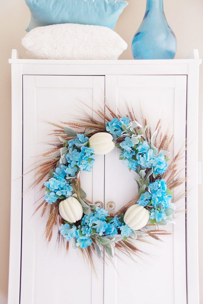 Fall Wreath - Fall Hydrangea Wreath - I Heart Naptime