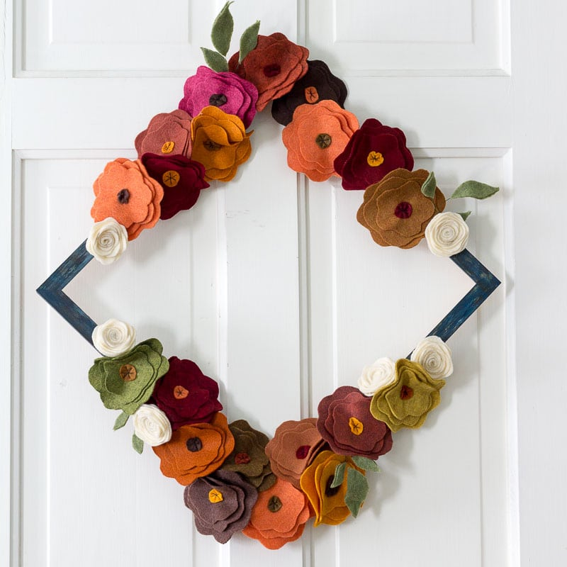 Fall Wreaths - Felt Flower Wreaths -Hearth and Vine