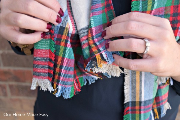 Easy Sewing Project - Blanket Scarf Tutorial- Our Homemade Easy