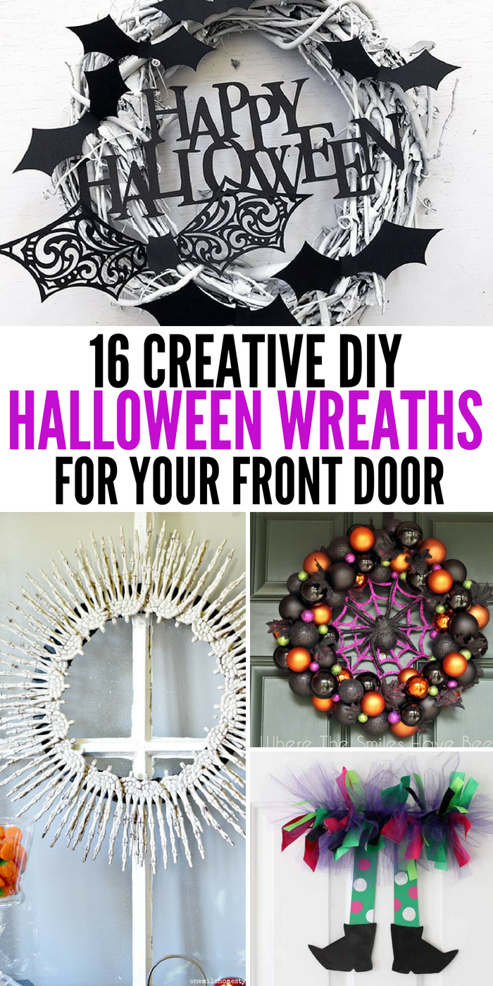 The Best DIY Halloween Wreaths To Make To Decorate Your Front Door