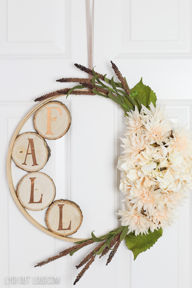 Fall Wreaths - Embroidery Hoop Wreath- Lydia Out Loud